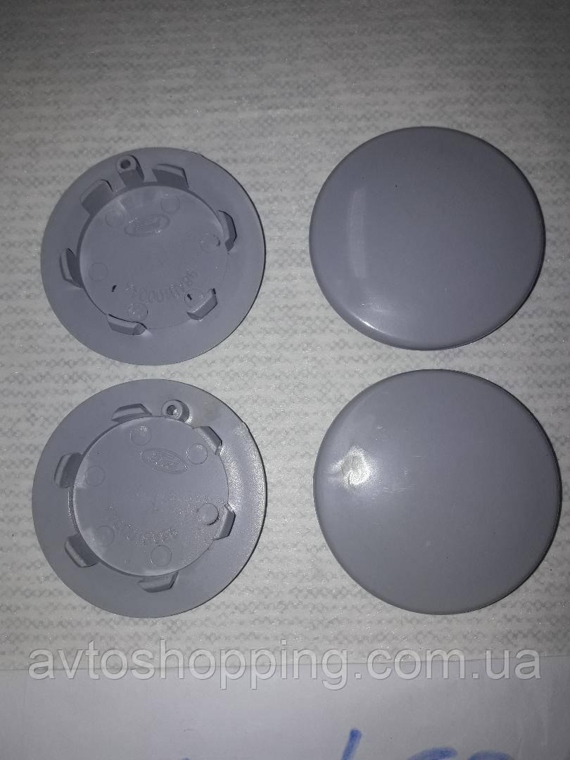 Ковпачки, заглушки на диски сірі 68 мм / 50 мм без бортика