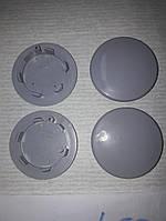 Колпачки, заглушки на диски серые 68 мм / 50 мм без бортика, фото 1