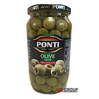 Оливки Ponti Olive verdi Snocciolate Италия