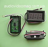 Вольтметр DC 0-100V DVM-568 (большой) для постоянного тока, цвет цифр - красный, фото 2