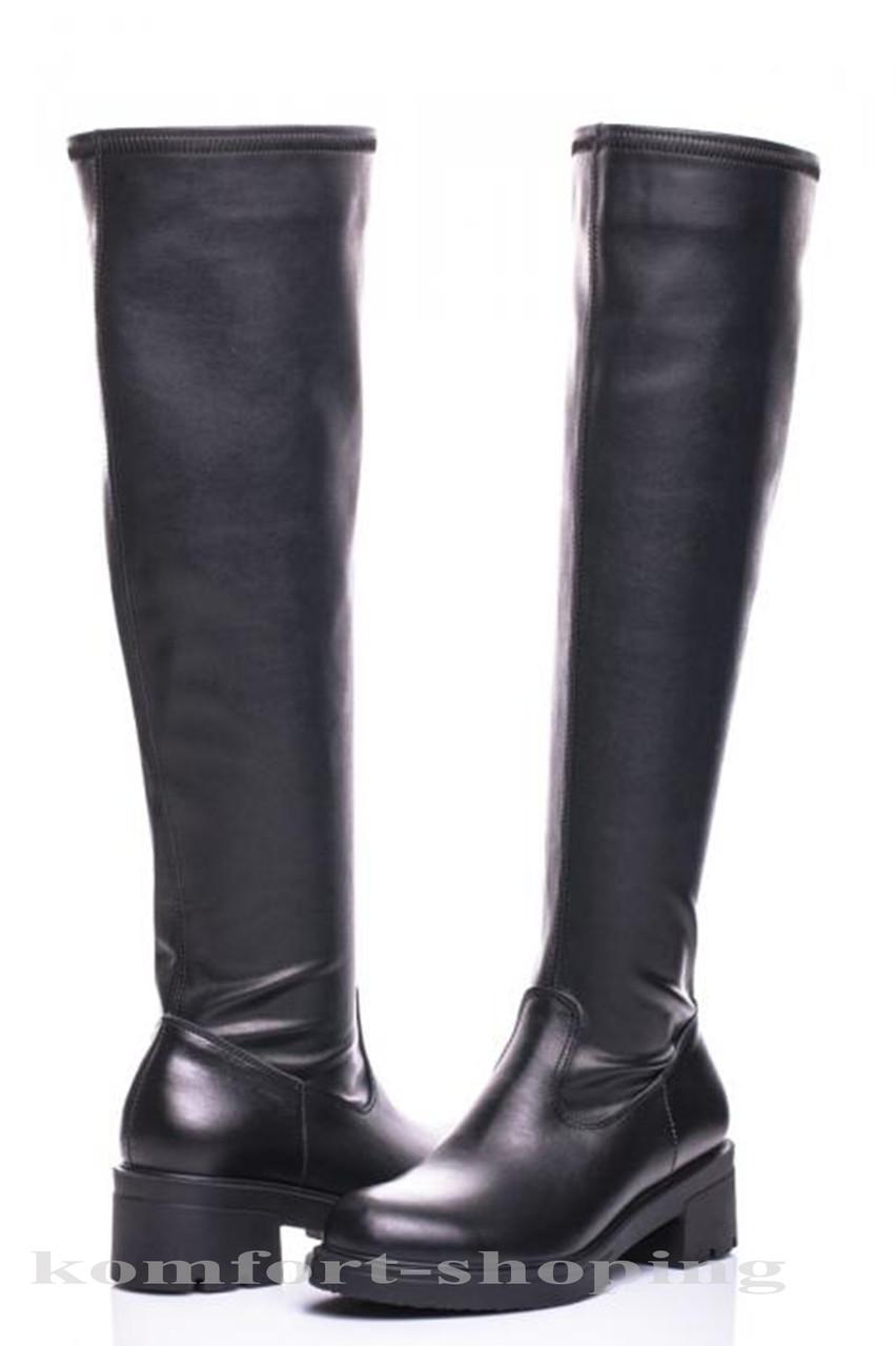 Женские ботфорты кожаные V 1151