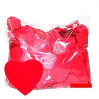 Конфетти сердечки красные. Размер: 35мм. Вес:500гр., фото 1