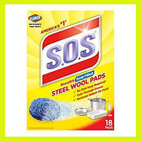 Чудо-губка S.O.S  Steel Wool Pads с моющим средством
