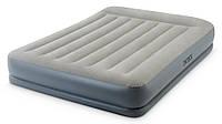 Intex 64118 (152х203х30см) Надувная Кровать Mid-Rice Airbed + Встроенный Насос 220v, фото 1