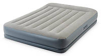 Intex 64118 (152х203х30см) Надувная Кровать Mid-Rice Airbed + Встроенный Насос 220v