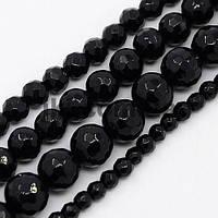 Агат черный бусины 18 мм, натуральные камни, поштучно, заказ делайте через сайт в описание товара