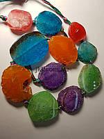 Агат вены дракона бусины 18-29*22-37 мм, натуральные камни, поштучно, разных цветов, заказ делайте через сайт в описание товара