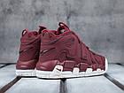 """Женские кроссовки Nike Air More Uptempo """"Bordeaux"""" Night Maroon (в стиле Найк Аптемпо) бордовые, фото 4"""