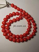 Агат прессованный бусины 4 мм, натуральные камни, поштучно, светло-красный коралловый, заказ делайте через сайт в описание товара