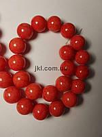 Агат прессованный бусины 8 мм, натуральные камни, поштучно, светло-красный коралловый, заказ делайте через сайт в описание товара