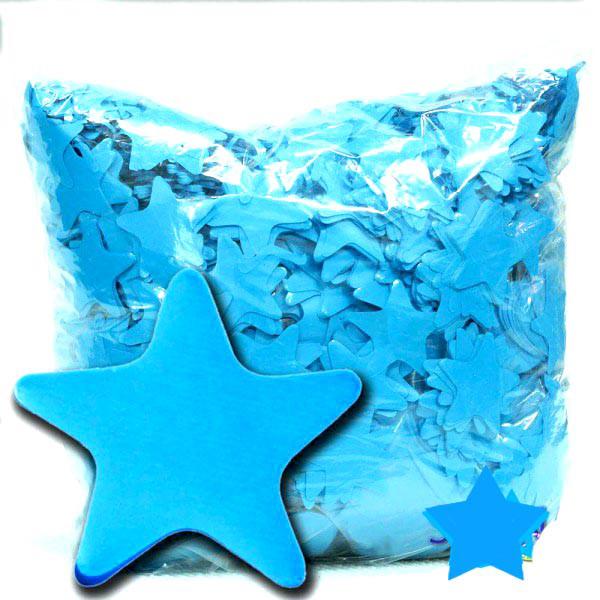 Конфетти звёздочки голубые. Вес:500гр.