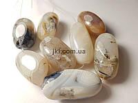 Агат бусины 20-31*13-15 мм, натуральные камни, поштучно, серые, заказ делайте через сайт в описание товара