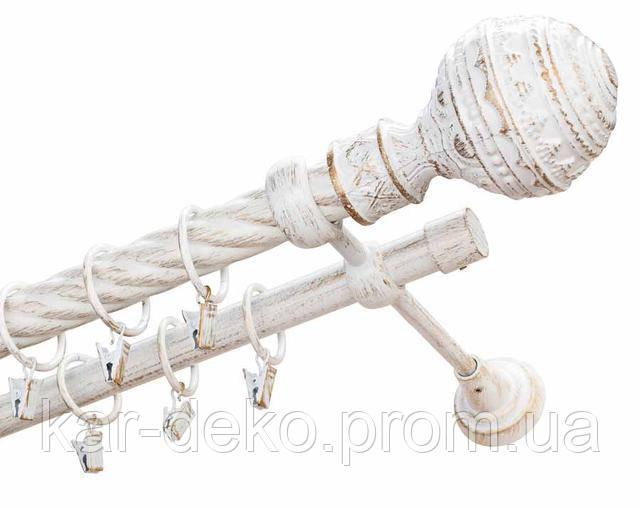 фото Карниз металлический кованный Гоа белый