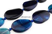 Агат бусины 24-26*29-34 мм, натуральные камни, поштучно, синий, заказ делайте через сайт в описание товара