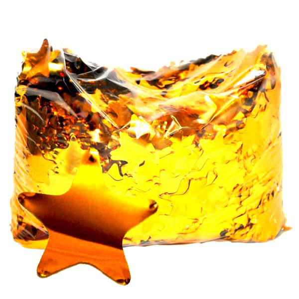 Конфетти звёздочки золото. Вес:50гр.