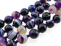 Агат вены дракона бусины 6 мм, натуральные камни, поштучно, фиолетовый с белыми разводами, заказ делайте через сайт в описание товара