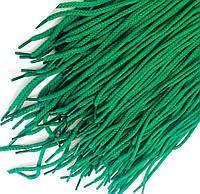 Шнурки для обуви (100см) круглые, цвет зеленый(упаковка 72 пары, Ø 6мм)