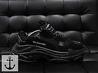 Мужские кроссовки Balenciaga черные топ реплика