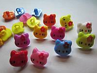 Пуговица, серединка для заколки  Китти, размер 1,8*1,7 см, разные цвета, фото 1