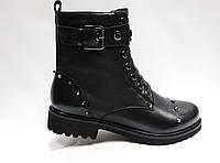 Черные стильные кожаные ботинки., фото 1