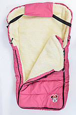 Дитячий теплий на овчині конверт в коляску, на санки., фото 2
