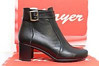 Стильные женские ботинки кожаные на каблуке, женская обувь кожа от производителя модель СТБ33, фото 1