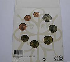 Португалия , официальный набор евро монет 2005 г .