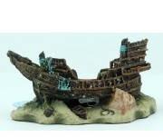 Декор в аквариум Керамика Светящийся корабль 17*10*9