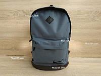 Стильный городской спортивный рюкзак Nike, цвет серый с черным