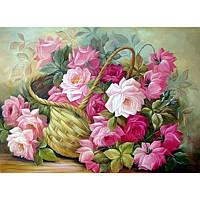 """Алмазная мозаика вышивка """"Корзина цветов"""""""