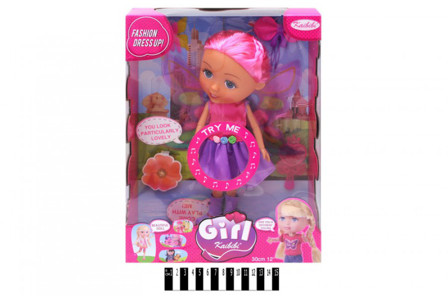 Музыкальная кукла с аксессуарами Girl Каibib BLD111-1, коробка 27*35.5