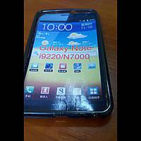 Чехол для Samsung Galaxy Note i9220/n7000 силикон черный
