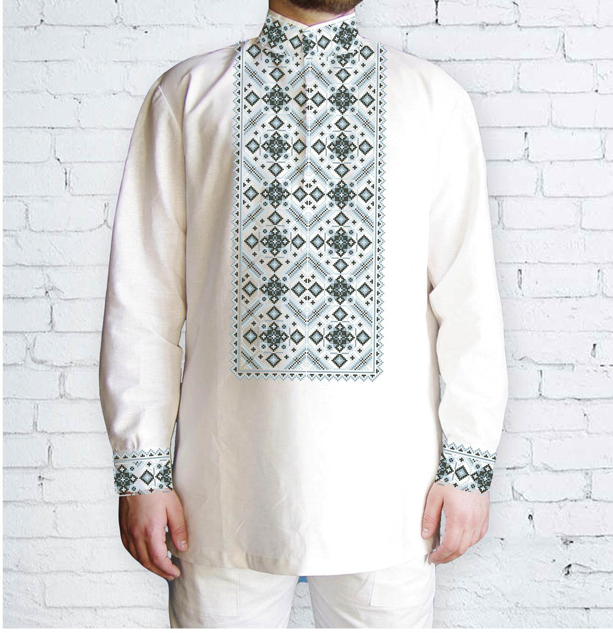 Заготовка чоловічої сорочки та вишиванки для вишивки чи вишивання бісером Бисерок «Ніжні лілії» (Ч-48 )