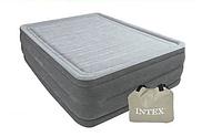 Надувная двуспальная кровать Intex 64418 со встроенным электро насосом (152-203-56 СМ)