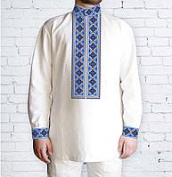 Заготовка чоловічої сорочки та вишиванки для вишивки чи вишивання бісером  Бисерок «546 Голуба » Габардин 25de179f1ccf6