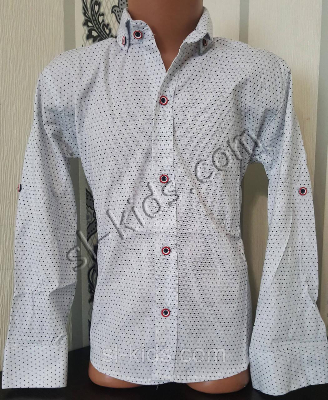 Стильна стрейчева сорочка для хлопчика 116-152 см (роздр) (Б02) (пр. Туреччина)