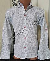 Стильная стрейчевая рубашка для мальчика 116-152 см (розн) (Б02) (пр. Турция)