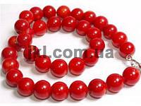 Коралл прессованный бусины 4 мм, ~107 шт / нить, натуральные камни, на нитке, красный, заказ делайте через сайт в описание товара