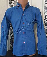 Стильная стрейчевая рубашка для мальчика 116-152 см (розн) (П02) (пр. Турция)