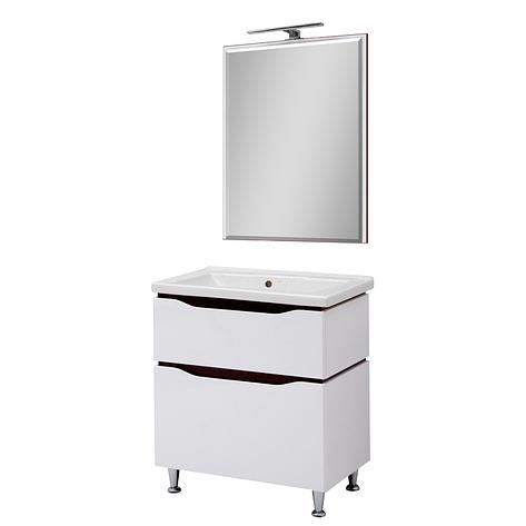 Мини-комплект мебели для ванной комнаты Сенатор 60 напольный с зеркалом  Юввис, фото 2