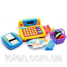 Детский кассовый аппарат 7016 RU 'Мой магазин' калькулятор ,микрофон, звук(рус), свет