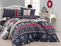 Комплект постельного белья новогодний First Choice Ranforce Евро Snowfall 007cad18405aa