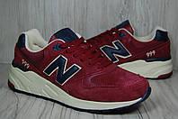 New Balance 999 мужские бордовые кроссовки Англия  нубук