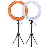 """Кольцевой LED осветитель ZOMEI (18"""") в комплекте со стойкой - для портретной, бьюти и селфи съемки"""
