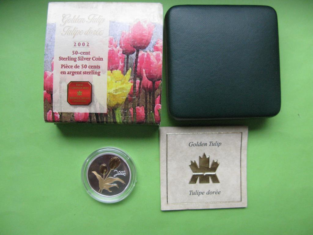 Канада 50 центов 2002 г. Флора - тюльпан