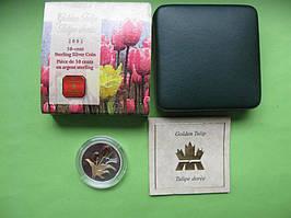 Канада 50 центів 2002 р. Флора - тюльпан