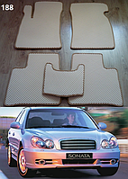 Коврики на Hyundai Sonata '01-05. Автоковрики EVA, фото 1