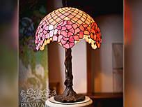 Светильники Тиффани из кусочков цветного стекла