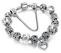 Женский браслет HEART в стиле PANDORA - White