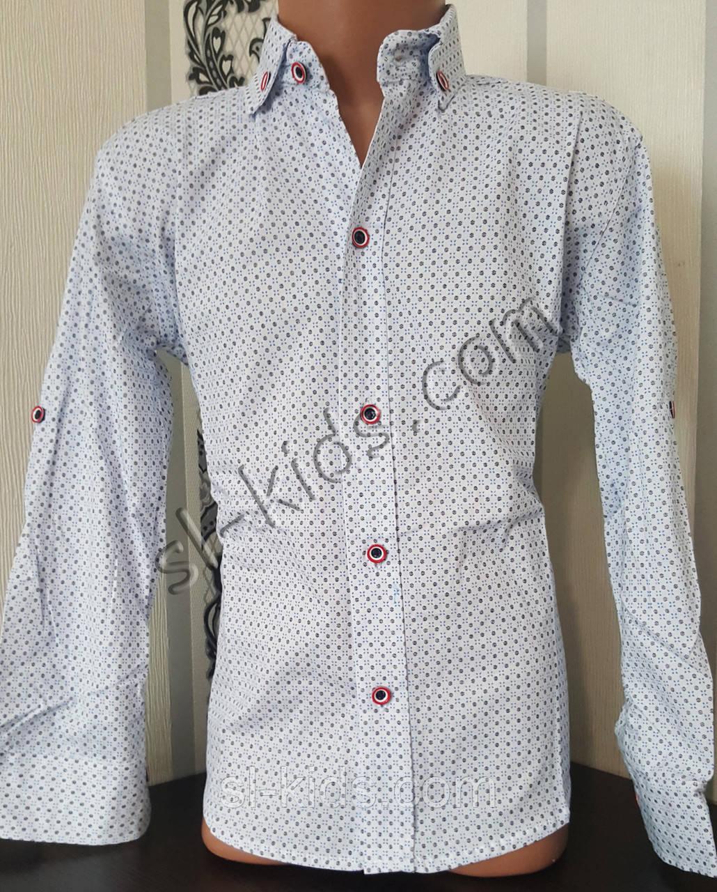 Стильна стрейчева сорочка для хлопчика 116-152 см (роздр) (БГ03) (пр. Туреччина)